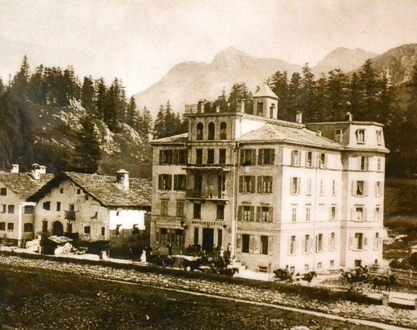 Hotel Edelweiss in einer historischen Ansicht