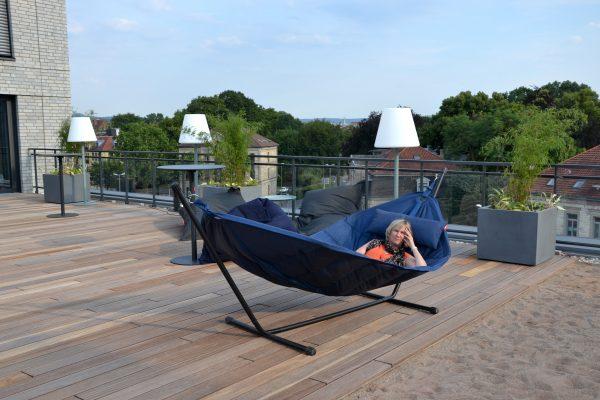 Chillen auf der Dachterrasse: Hotel Freigeist